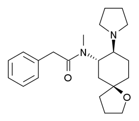 Chemical structure of U-69593.