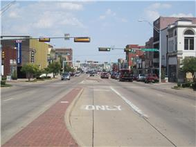 U.S. Highway 80 is the main street of Terrell