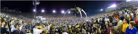 Panorama of Rose Bowl during the filming of the concert.