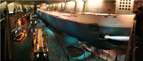 Wide-angle shot of U-505