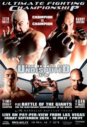 A poster or logo for UFC 44: Undisputed.