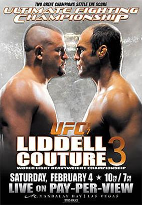 A poster or logo for UFC 57: Liddell vs. Couture 3.