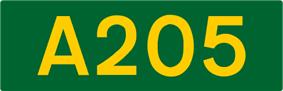 A205 road shield
