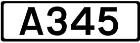 A345 road shield