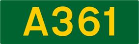 A361 road shield