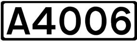 A4006 road shield