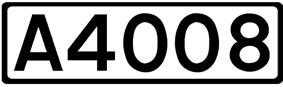 A4008 road shield