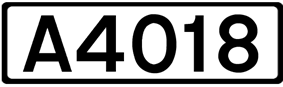 A4018 road shield