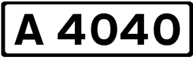 A4040 road shield