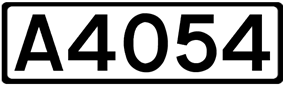 A4054 road shield
