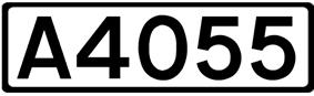 A4055 road shield