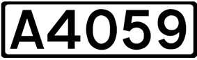 A4059 road shield