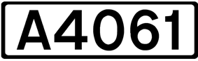 A4061 road shield