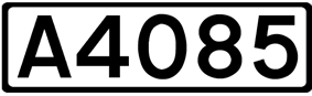 A4085 road shield