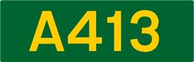 A413 road shield