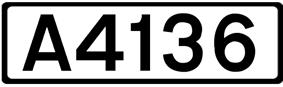 A4136 road shield