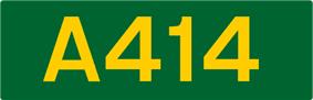 A414 road shield