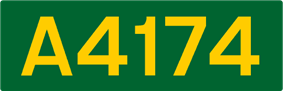 A4174 road shield