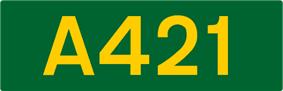 A421 road shield