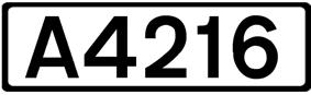 A4216 road shield