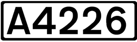 A4226 road shield