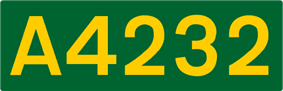 A4232 road shield
