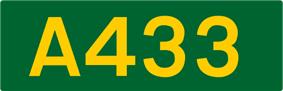 A433 road shield