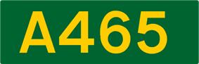 A465 road shield