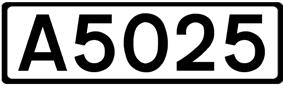 A5025 road shield