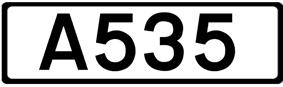 A535 road shield