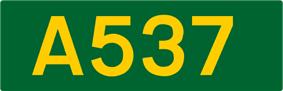 A537 road shield
