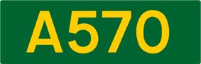 A570 road shield