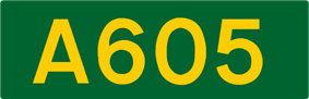 A605 road shield
