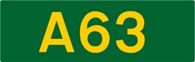 A63 road shield