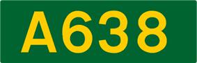 A638 road shield