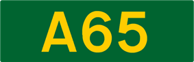 A65 road shield