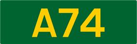 A74 road shield
