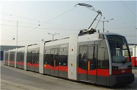 Electric tram in Vienna