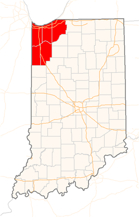 Map of Northwest Indiana