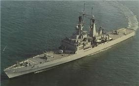 The USS Arkansas underway under nuclear propulson