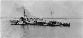 Benham departing from Brest in October 1918