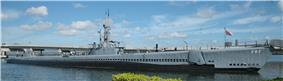 Bowfin moored at Pearl Harbor, where it is now a museum