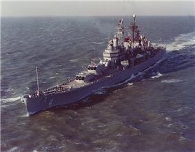 USS Canberra underway