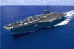 USS Carl Vinson (CVN-70) underway in the Pacific Ocean on 31 May 2015.