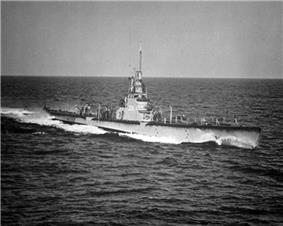 USS Cod (SS-224), about 40 mi (64 km) south of Block Island, R.I., December 1951