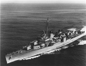 USS Cowell (DD-547) underway, c. 1951