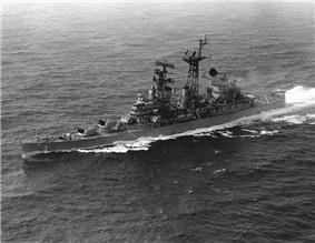 USS Galveston (CLG-3) underway 1967