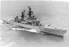 Uss Gridley, underway, starboard view