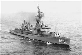 USS Joseph P. Kennedy, Jr. (DD-850) underway