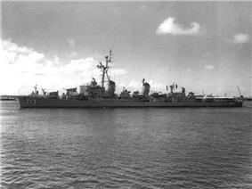 USS Kenneth D. Bailey (DDR-713) at Mayport, circa 1960